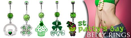 St. Patrick's Day Body Jewelry