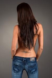 back tattoo backless shirt