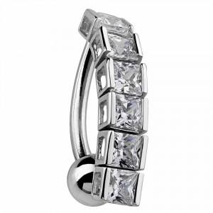 Princess Tennis Bracelet Reverse Dangle Belly Ring