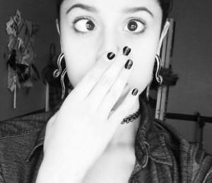 girl with bridge piercing