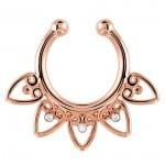 Fake rose gold septum ring