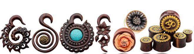 organic wood body jewelry gauges