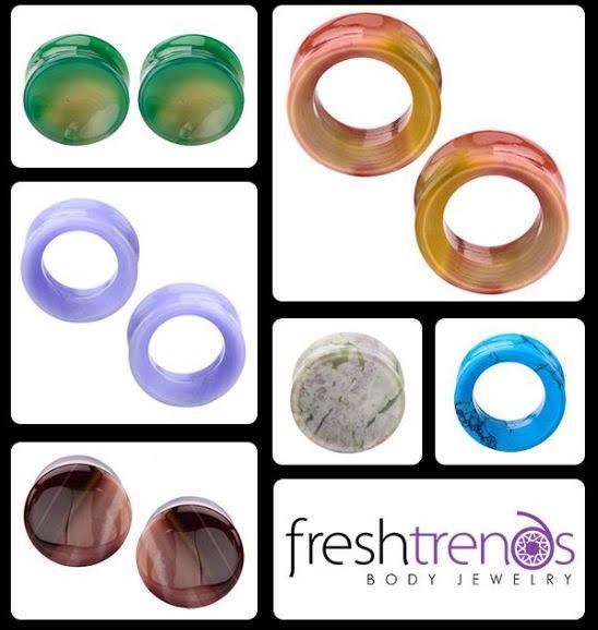 organic stone body jewelry plugs