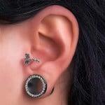 Silver dragonfly cuff earring bioplast