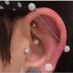 Industrial Daith piercings