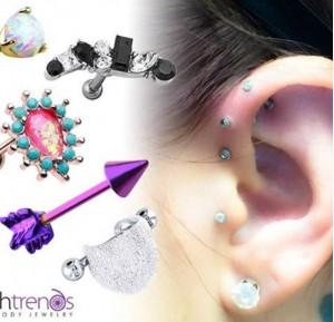 triple helix cartilage piercing
