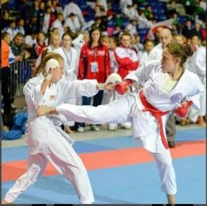 Sensei Sheri Karate kick
