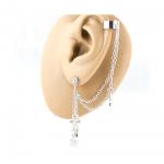 CZ Star Dangle Earring Chain to Non-Piercing Cartilage Cuff