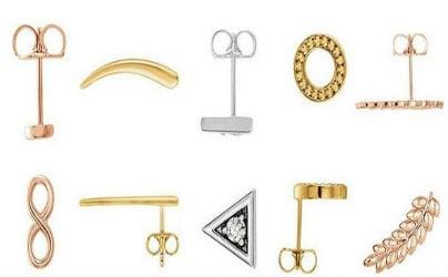 gold stud tribal minimalist earrings