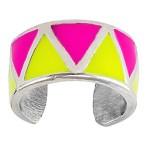 Neon Triangles Non-Piercing Sterling Silver Cartilage Cuff