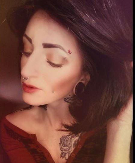 Beautiful eyebrow piercing