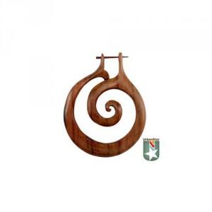 Wooden spiral hanger gauge earrings