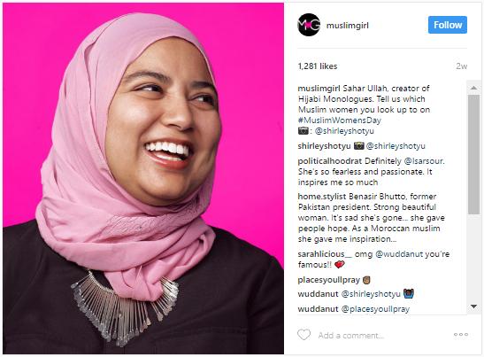 MuslimGirl Instagram image