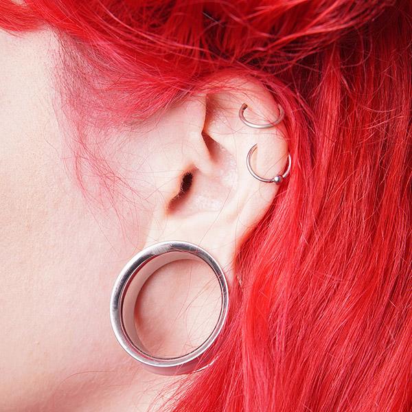 Double cartilage hoop earrings