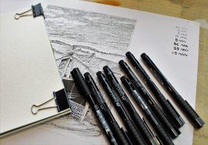 Inktober Ink Art Sketch Ink Pens