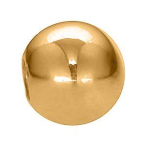 External Threading Gold Body Jewelry Externally Threaded