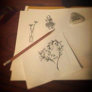 Custom Made Ink Design Graphic Designer Tattoo Etsy Piercing Ink Present Gift