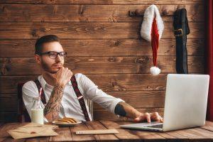 Santa Hat Tattoos Ink Piercings Gifts Presents Christmas Holiday Piercings Ideas