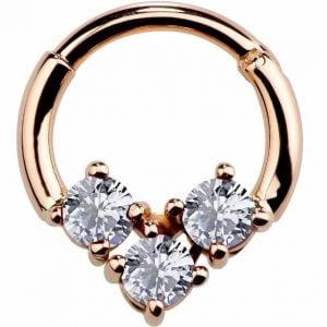 Fine Gold Jewelry Gold Septum 14k Body Jewelry FreshTrends Nose Piercing Septum Piercing