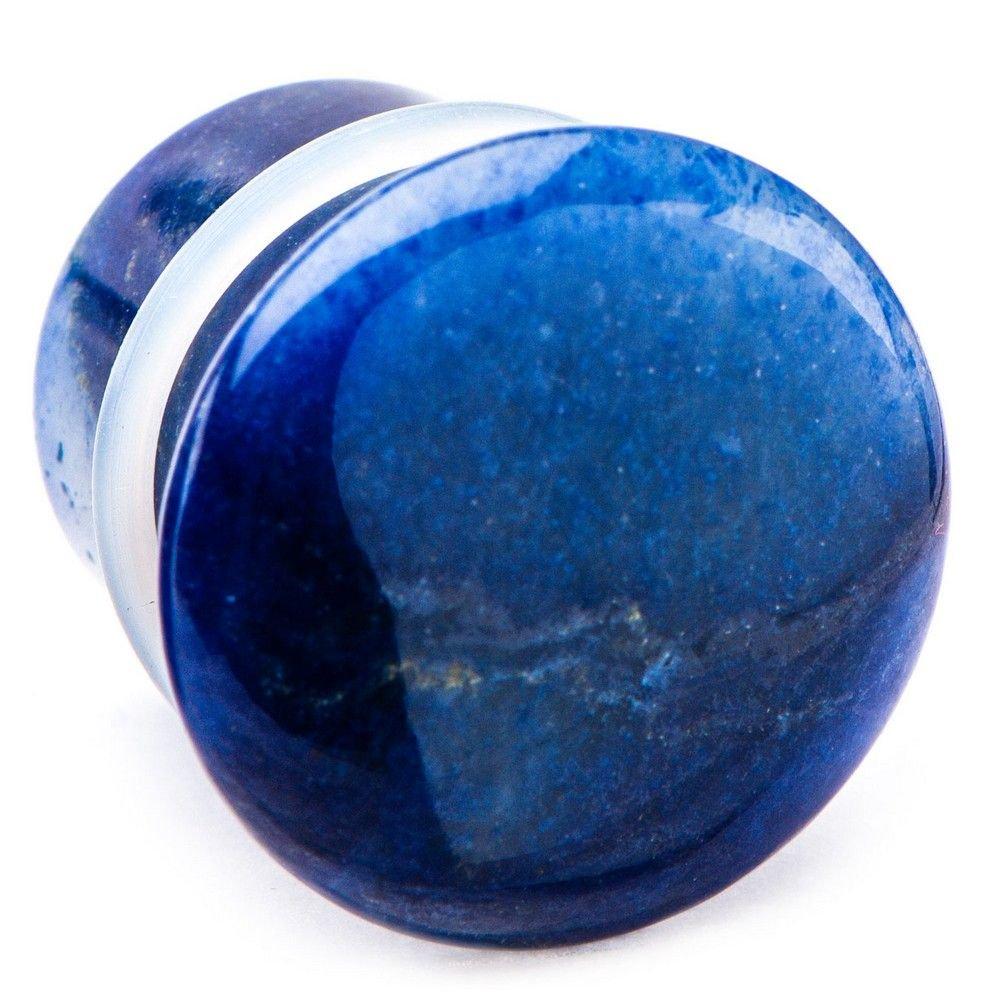 Blue aventurine stone single flare plug