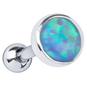 FreshTrends bezel opal cabochon sterling silver cartilage stud