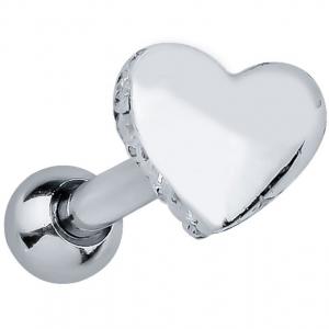 FreshTrends heart sterling silver cartilage stud