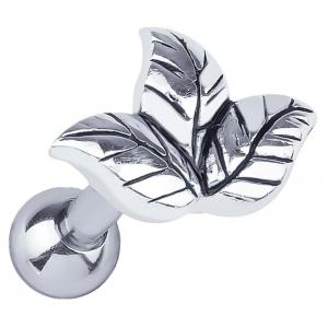 FreshTrends sterling silver leaf cluster cartilage ring