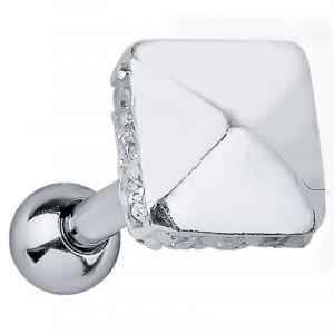 FreshTrends square sterling silver cartilage stud