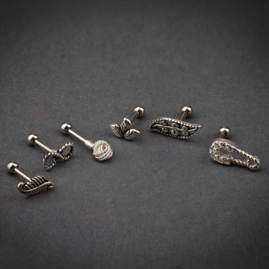 FreshTrends Sterling Silver Cartilage Studs