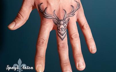 deer finger tattoo by Spayk Tattoo