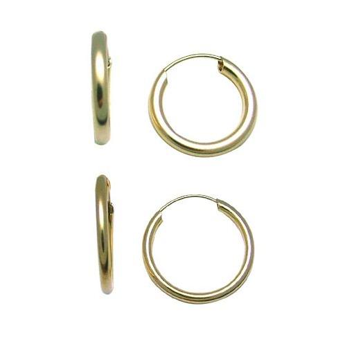 FreshTrends 14k gold hoop earrings