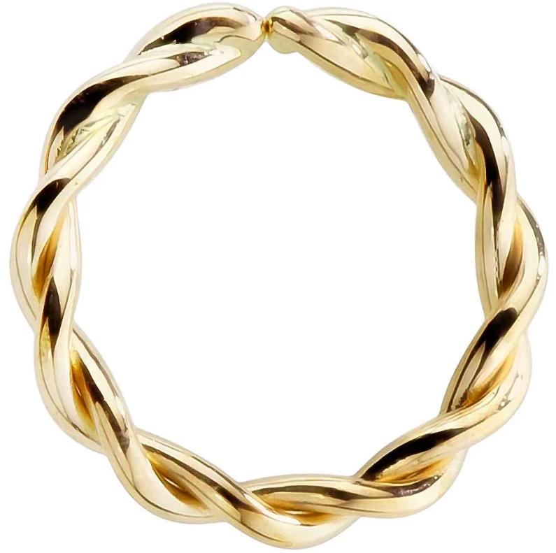 FreshTrends 14K Gold Seamless Ring Hoop lip ring