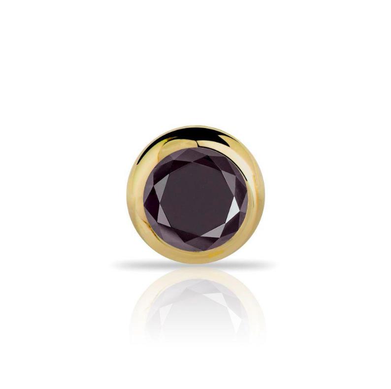 Black diamond nose ring stud by FreshTrends