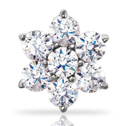 FreshTrends diamond flower nose ring