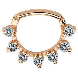 FreshTrends diamond petal gold clicker septum ring