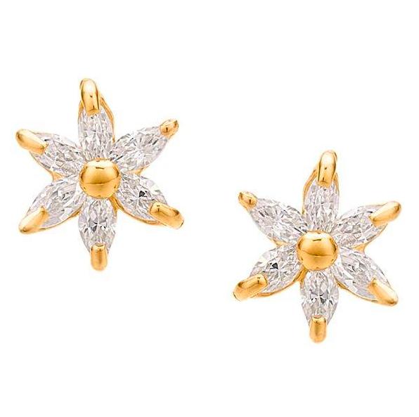 marquise cut flower earrings