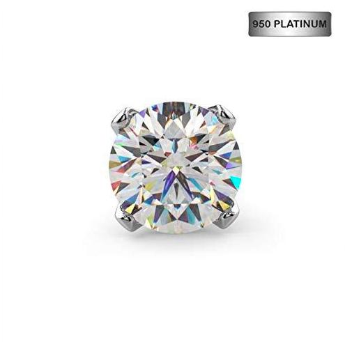 diamond platinum nose stud by FreshTrends