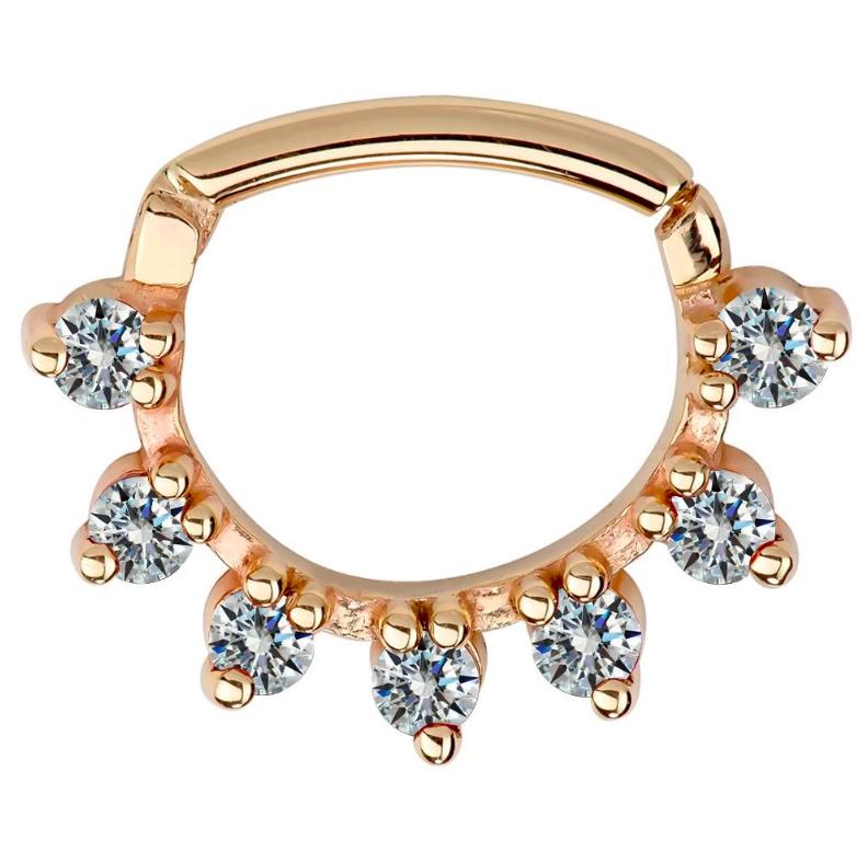Diamond Petal 14K Gold Clicker Ring