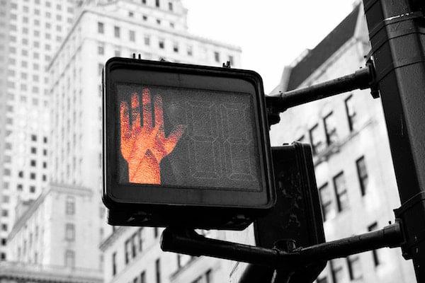 pedestrian stop sign