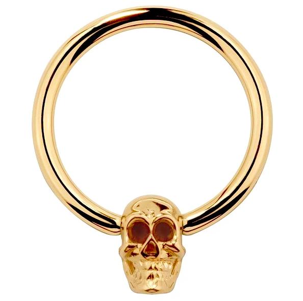 skull captive bead ring by FreshTrends
