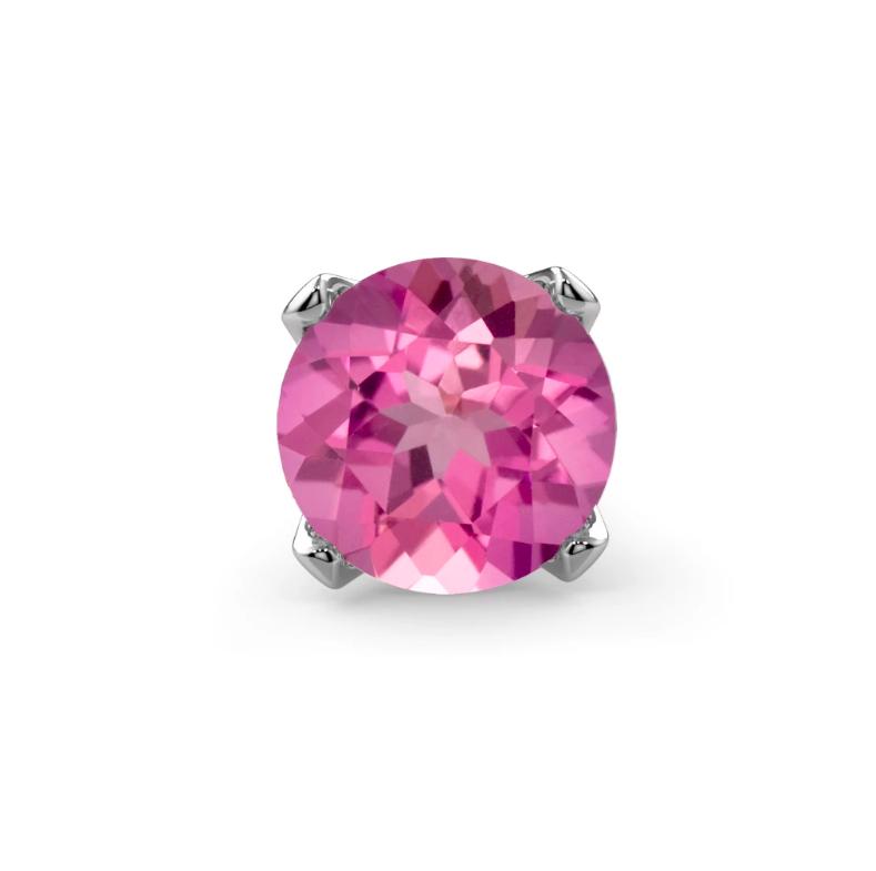 Genuine Pink Tourmaline 14K Gold Nose Ring