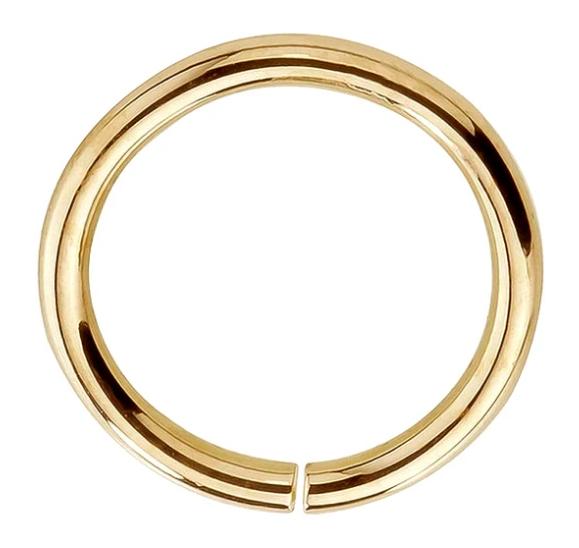 Seamless Ring Hoop 14K Gold or Platinum