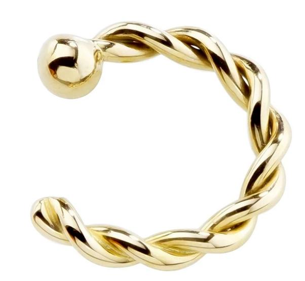 14K Gold Twisted Nose Hoop