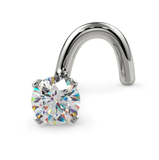 2.5mm Petite Diamond Prong Nose Ring Stud