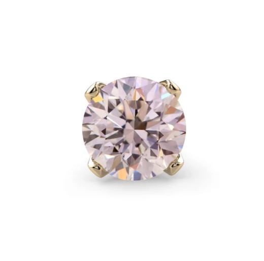 Pink Diamond Prong 14K Gold Nose Ring