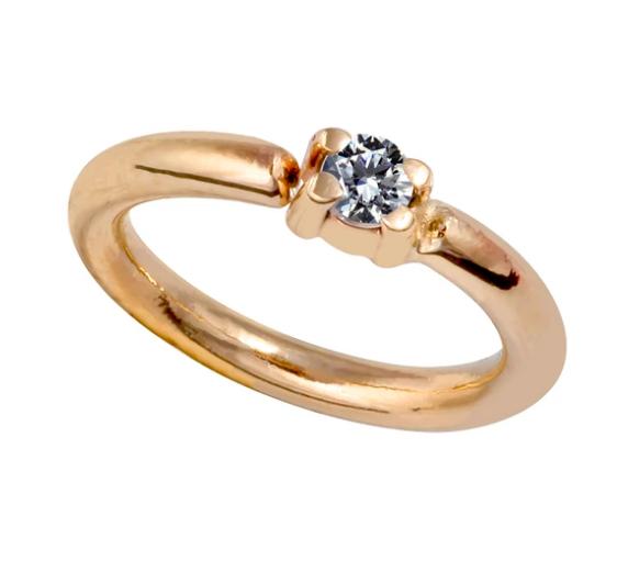 Diamond Side-Set Seamless Ring Hoop 14K Gold or Platinum