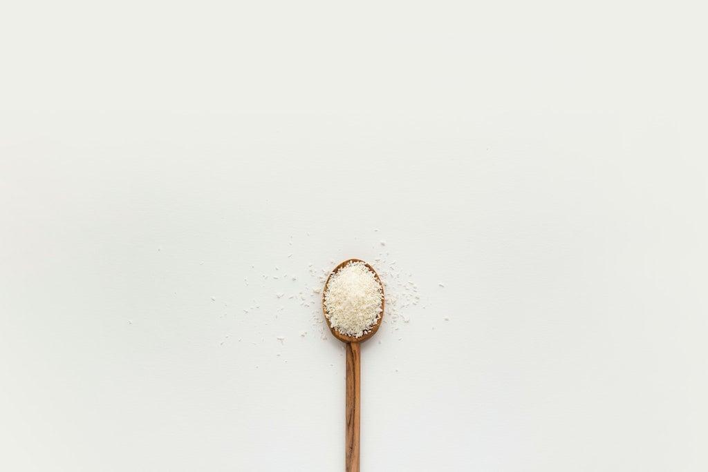 salt in a spoon