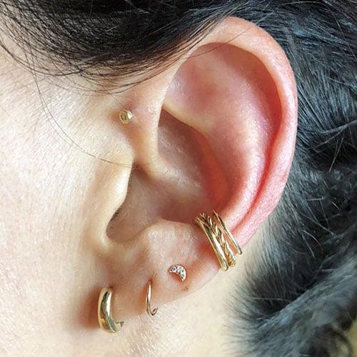 conch piercing hoop