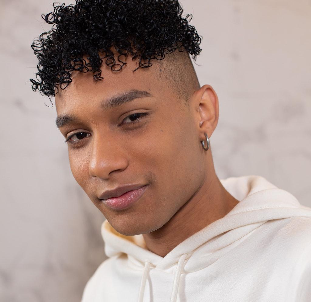 Man with ear Piercing